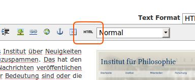 HTML-Modus
